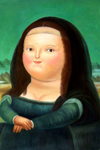 Famous Fernando Botero Monalisa High Quality Hand Painted &HD Print Home Wall Art Oil painting Decor on canvas Multi Sizes  Frame fr02