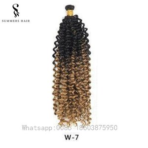 Cheap Ombre Crochet Braids Hair Extension Water Wave Braiding Hair 18 Inch Synthetic Freetress Crochet Braids Curly Hair Extensions