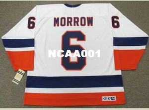 Men # 6 Ken Morrow New York Islanders 1982 CCM Vintage casa Hockey Jersey o personalizzato qualsiasi nome o il numero retrò Jersey