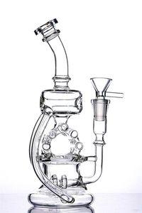Nouveau Bang incroyable en verre de radeau de chambre de Recycler Dab Rig Bubbler Pipe 13 pouces et joint de 14mm