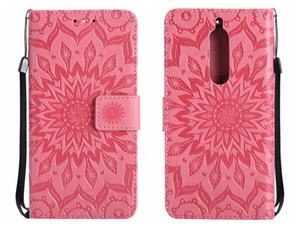 Para el caso de NOKIA 3 5 6 Funda de cuero de lujo Ranura para tarjeta de girasol Teléfonos móviles Casos Para el caso de NOKIA 5 3 6 cubierta