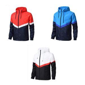 HOT 2018 NUOVO stile Uomini Sport Giacche a vento Colori Patchwork Giacche di lusso alla moda Casual Sport Outdoor Windbreak per uomini L-4XL