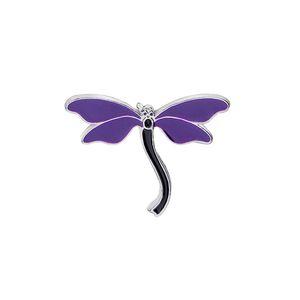 Animal bonito Dragonfly Esmalte Pin Broche Denim Jackets shirt Collar lapela o emblema Roupa Jóias