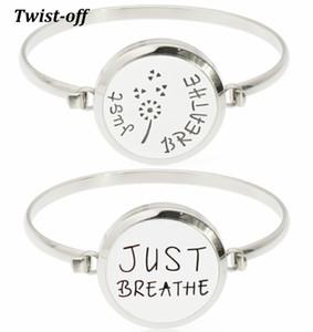 Haute Qualité Just Breathe En Acier Inoxydable 316L 30mm Aromathérapie Huile Essentielle Diffuseur Médaillon Bracelet Bracelet 10pcs tampons gratuits