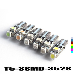 Hotsale T5 3 LED 3528 SMD 3led 3smd 자동차 자동 램프 대시 보드 게이지 조명 악기 경고 표시기 신호 전구