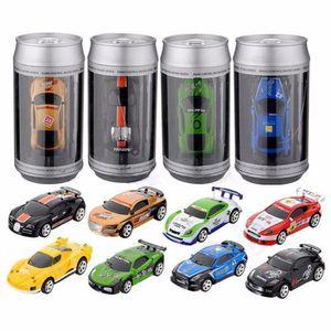 Radio Fernbedienung Rennfahrzeug Kinder Spielzeug High Speed Mini Cola kann RC Auto für Kinder Weihnachtsgeschenk mit Straßensperren
