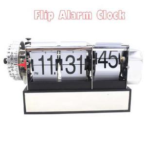 1 Pièce 2 Couleurs Automatique Flip Bureau Réveil Pour Art Maison et Bureau Décoratif Mini Horloge De Table