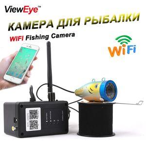 ViewEye Новый 15 м-50 м металлический WIFI подводная рыбалка камеры 1000TVL 2.4 г видеомагнитофон ночного видения Fish Finder с 12 шт. LED