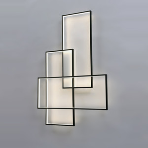 Applique murale LED Appliques Design Lighting Rectangle Aluminium Salon Lit Escalier Applique