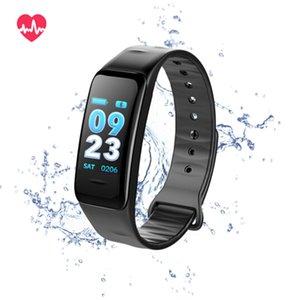 C1S Rastreadores de Fitness Atividade Pulseira Inteligente Monitor de Pressão Arterial de Freqüência Cardíaca Ip67 À Prova D 'Água Inteligente Wristand Para ios Android Smartphone