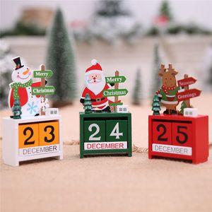 Weihnachten Advent Holz Mini Kalender Weihnachtsschmuck Dekorationen für Weihnachten Ornament Kreative Kinder Weihnachtsgeschenke