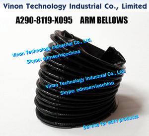 (1 قطعة) A290-8119-X095 Fanuc ARM BELLOWS لـ CNC WIRE CUT EDM MACHINES A2908119X095 السفلى الذراع الخوار