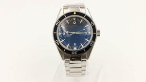 Novos relógios master dial preto pulseira de aço inoxidável transparente tampa traseira de vidro movimento automático relógios frete grátis