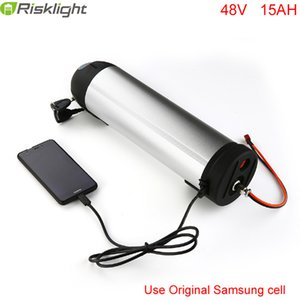 Литий-ионная аккумуляторная батарея 48V 15AH 750w Ebike Bottle батареи с 5V USB порт использовать Samsung мобильный приступе 48v Bafang 8fun 750w bbs02 двигателя