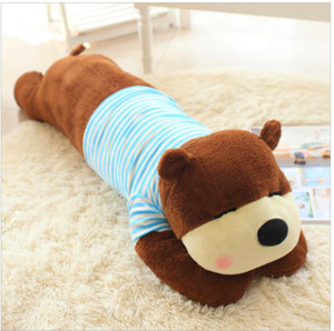 Lovely Wearing Clothe Bear Plush Toy Stuffed Animal Doll Plush Pillow Birthday Gift Send to Children & Girlfriend