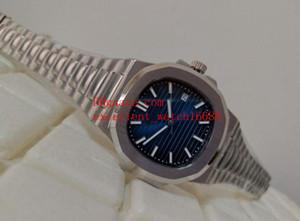 Reloj de moda de lujo de alta calidad Classic 40 mm Nautilus 5711 / 1A 010 001 Dial azul Asia Automático mecánico transparente de acero inoxidable