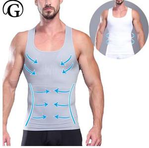 Homme corps shaper Gynecomastia poitrine classeur Shaper Boobs abdomen corset chemise chemise Beer Belly Control Shaper Minceur Gilet Tops