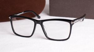 Erkekler Gözlük Çerçeveleri Marka Gözlük Çerçeveleri Kare Şeffaf Lens ile Optik Gözlük Çerçeve Orijinal Kutusu ile Kadınlar için TF5407 Miyopi Gözlük