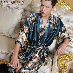 Robe homens homens sleepwear com dragão homens vestido de estilo chinês masculino roupão de banho dos homens de seda roupão de banho robe AA847