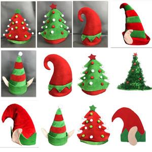 Новые Рождественские Шапки Теплые Фланелевые Шапочки Шапки Для Взрослых И Детей Рождественская Елка Костюм Партия Hat Украшения Подарки 7 Стилей HH7-1840