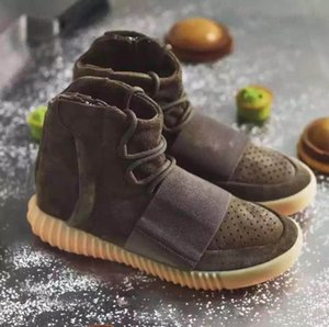 Hommes Chaussures de basket-ball 750 gris clair gomme Glow In The Dark Kanye West Chaussures Sneakers pas cher 750 hommes Sport Casual Box Sans
