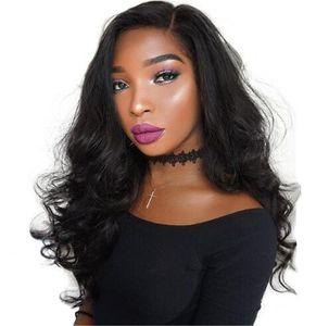 150 плотности 5 * 4.5 '' шелковый верхний полные кружевные парики волна бразильские девственные волосы шелковые верхние парики для волос для чернокожих