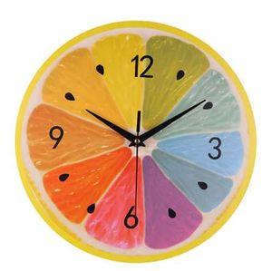 Moda orologio da parete decorazione della casa Silent Sweep moderna elegante frutta creativa orologio digitale regalo decorazione della casa