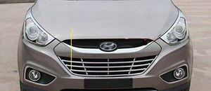 ABS de alta calidad 1pcs Parrilla del cromo del coche del marco decorativo, cubierta de estructura de protección para Hyundai Tucson (ix35) 2009-2013