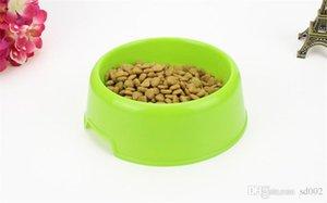 Cuencos de plástico para mascotas Práctico redondo Dog Cat Bowl Multi colores Alimento de alimentación del alimento Alimentadores del perrito Moda 0 85dg gg