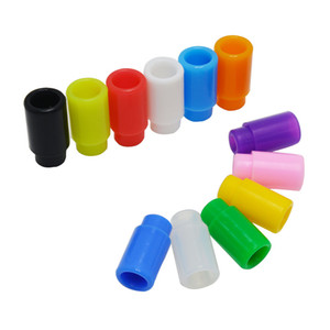Colorful Disposable Silica Gel Drip Tip Silicone 510 Mouthpiece Wide Bore E Cigarette fit RDA Atomizer High quality Free shipping
