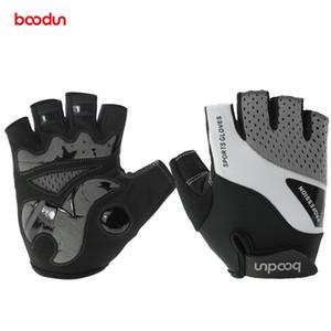 Boodun antideslizante guantes de bicicleta Lycra medio dedo transpirable guantes de ciclismo antideslizante bicicleta medio respirable transpirable medio dedo guantes