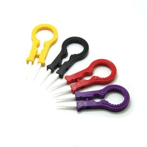 최신 Vaper Twizer V8 ecig 액세서리 Vapor Tweezer DIY Tool 세라믹 트위저 RDA RBA RTA RTA RDTA eCigs 용 Vapor Tweezers Vape Twizer 핸들