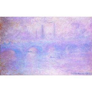 Peints à la main Paysages d'art Waterloo Bridge Fog Claude Monet peinture à l'huile pour la décoration intérieure
