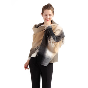 Free Shipping new Women's Spring and Autumn Cashmere Shawl Lady Cashmere Shawl Dual-Use Thick women Cashmere Shawl