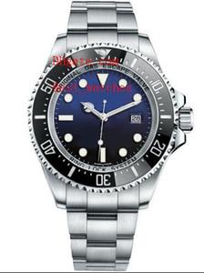 Fornitore della fabbrica di lusso in acciaio inox lunetta in ceramica d-blu seadweller 116660 44 millimetri automatico degli uomini meccanici orologi da uomo
