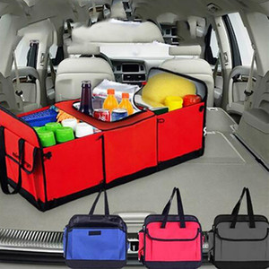 Sacos de Armazenamento Do Veículo dobrável Multi Compartimento Organizador Do Caminhão Do Carro Cesta De Armazenamento De Carro Cesta Recipiente Com Refrigerador E Isolamento WX9-803