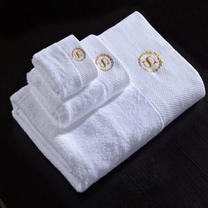 Toalha de 3 peças conjunto branco 1 toalhas de banho 1 toalhas de mão panos de algodão máquina de café lavável qualidade super macia