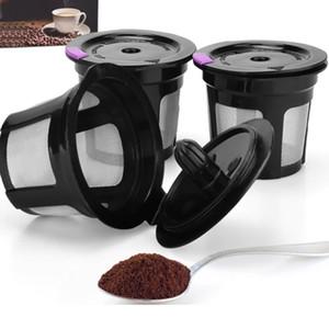 3pcs / ensemble noir filtre à café réutilisable tasse inox entonnoir de maille café colanders crépines drinkware tasse hh7-360