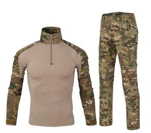 Traje de camuflaje de rana de entrenamiento táctico de rana traje de manga larga traje de camuflaje conjuntos de chaqueta táctica envío gratis