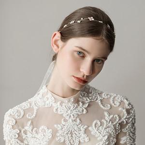 Fasce per capelli Vintage Fasce per capelli Copricapo Nuziale Gioielli da sposa Accessori Cristalli Cristalli Perle di strass CPA1426