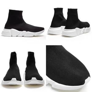2020 Hız Eğitmen Çizme Çorap Stretch-Örme Yüksek Top Trainer Ayakkabı Sneaker Siyah Beyaz Kadın Erkek Moda Ayakkabılar Size4.5-11.5