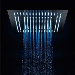 호텔 2 기능 샤워 헤드 304 스테인레스 스틸 욕실 샤워 대형 비가 LED 수도꼭지 / 16 인치