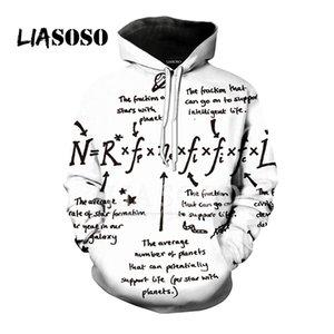 LIASOSO Nueva 3D Mujeres de Impresión Hombres Creativos fórmula Matemática sudaderas con capucha Sudaderas Pullover Harajuku Hip Hop Tops X1439
