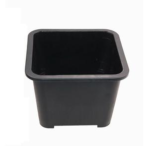 Venda al por mayor 50PCS MOQ el envío libre plástico maceta negra resistente del drenaje para la planta suculenta del arreglo de la serie, maceta plástica