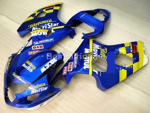 Высокое качество обтекатель комплект для SUZUKI GSXR600 GSXR750 2004 2005 синий желтый GSXR 600 750 K4 K5 обтекатели FD34