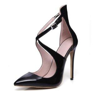 2018 yaz sandalet kadınlar yüksek topuklu süper yüksek Ayak Bileği Kayışı sandalet Seksi Ince Topuklu Kadın ayakkabı 4 çeşit renk