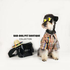 Fashion Dog Shirts Puppy Classic Plaid Shirts Fashion Brand Dog Lässige Hoodies Teddy Puppy Apparel Herbst Lässige Outwears Pet Kleidung