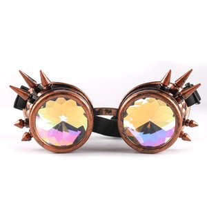 Óculos de sol das mulheres dos homens 2018 Caleidoscópio Colorido Óculos Rave Festival Do Partido EDM Óculos De Sol Lente Difractada
