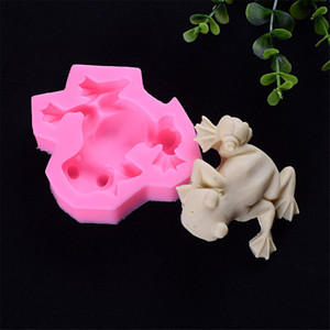 1pc pudding dessert molds for cake decorating chocolates soap mould Frog fondant cake mold silicone baking tools