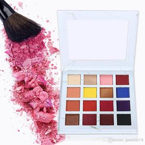 Toptan Hiçbir Etiket 16 renkler mermer karton makyaj göz farı paleti Mat ve pırıltılı göz farı paleti Makyaj göz farı paleti